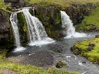 De toeristische waterval
