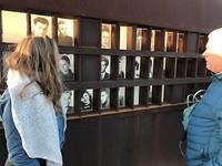 Fotomuur van gestorvenen tijdens de vlucht