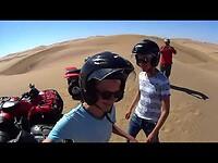 Quad Riding in de duinen van Swakopmund