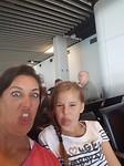 gekke bekken op het vliegveld