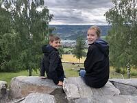 Uitzicht vanaf Lysgårdsbakkene op Lillehammer