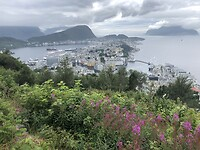 Uitzicht vanaf Aksla Viewpoint op Ålesund