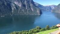 Uitzicht op Aurlandsfjord