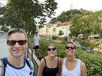 Net aangekomen in Ljubljana