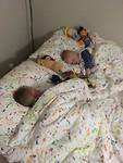 Heerlijk slapen in het grote bed.
