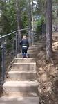 Jens de trap aan het beklimmen.