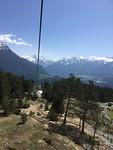 Uitzicht vanuit de kabelbaan.