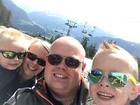 Selfie bovenaan de kabelbaan!