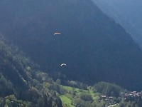 Paragliders.