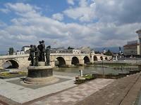 Oude brug over de rivier Vardar