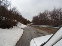 Sneeuw in de bergen boven Ohrid