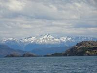 De achtergrond van Lago General Carrera