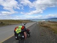 Puerto Natales in zicht