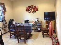 De huiskamer in het gezellige appartementje in Ushuaia.
