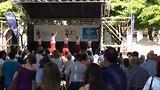 Spaanse dansgroep in Pamplona