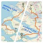 9 en 10 juni route