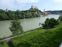 Laatste zicht op Burghausen
