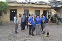 Lalitpur, Fire Station, meeting with the local firefighters