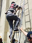 Climbing ladders with Leo