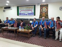 Closing ceremony at the Town Hall of Pokhara