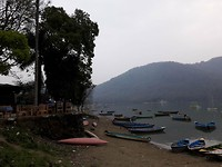 Last view on Fewa Lake before leaving Pokhara and heading to KTM by car
