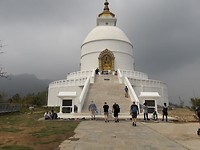 On the way to the World Peace Stupa:  then we climb the mountain to see this beauty !