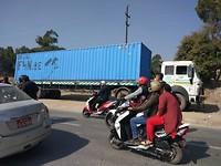 Container, arrival @ Kathmandu