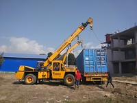 Meanwhile in Kathmandu: our container is finally put on its destination