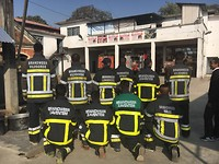 Bhaktapur, Training Day 1: new clothes for 6 fire stations