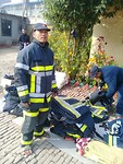 Training Day 5: the donated material at the fire station of Lalitpur