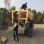 Training Day 5: loading of the donated material