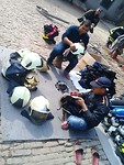 Training Day 5: donated material, cleaned by the motivated firefighters of Lalitpur