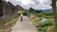 Dutch family on the bikes in Bali!