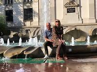 Ron&Eef bij de fontein