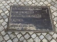 Gedenkteken schoenen op de Donaukade