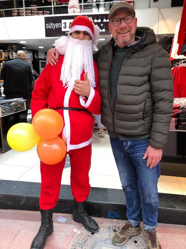 Gezellig op de foto met de kerstman