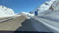 Sneeuw onderweg naar Konya