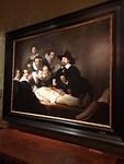 Rembrandt, de anatomische les . Hangt in het Mauritshuis
