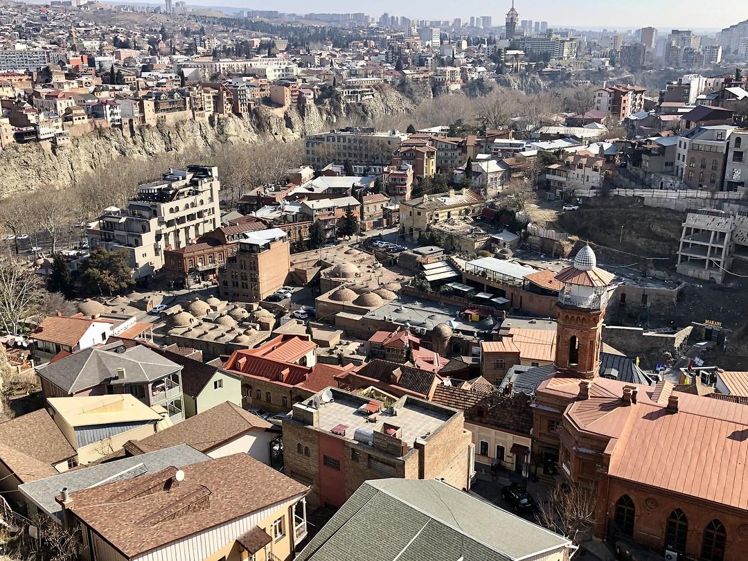 Uitzicht over Tbilisi