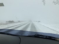 Sneeuw onderweg
