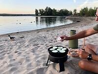 Eten op het strand