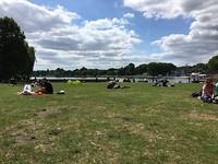 Lekker in het park uitrusten