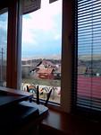 uitzicht van raam op kantoor