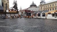 De kerstmarkt in Cluj
