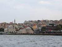 Bosporus, uitzicht op oud Istanboel.