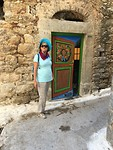 Deurschildering huis in Olimpi op Chios