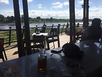 Uitzicht vanuit het restaurant