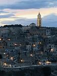 Sunset above Matera