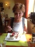 Toetje Panacota met aardbei (fraises)