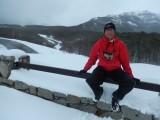 Sneeuw op de grens met Chili